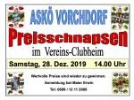 Plakat Askö Vorchdorf Preisschnapsen
