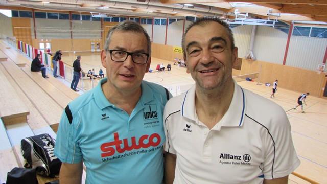 Titel Nr. 15 für Harald Starl (links) bei den Senioren Meisterschaften in Reute mit Partner Peter Moritz