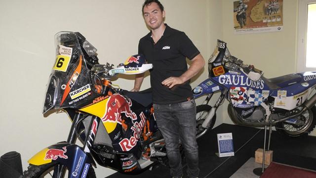 Matthias Walkner auf seinem Dakar-Motorrad
