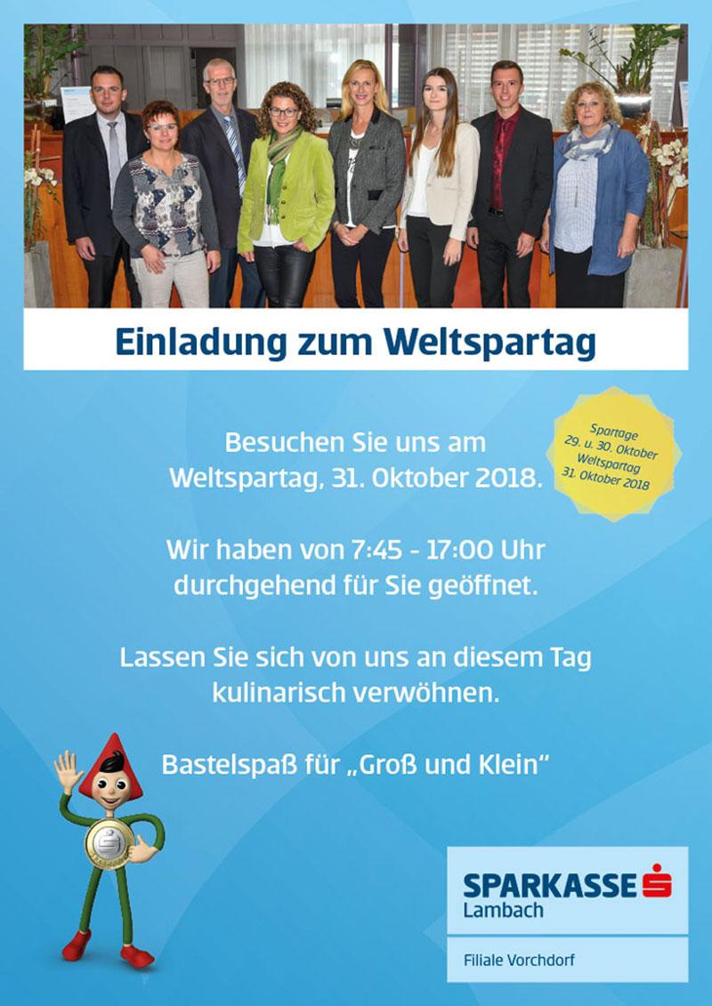 Weltspartag bei der Sparkasse Vorchdorf | Vorchdorf Online
